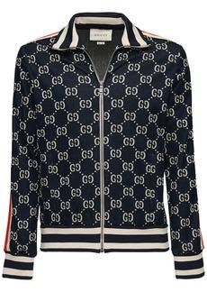 Gucci Gg Supreme Logo Zip-up Track Jacket