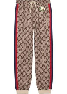 Gucci GG Supreme print jogging pants