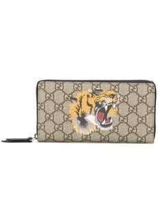 Gucci GG Supreme tiger print wallet