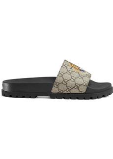 Gucci GG Supreme tiger slide sandal