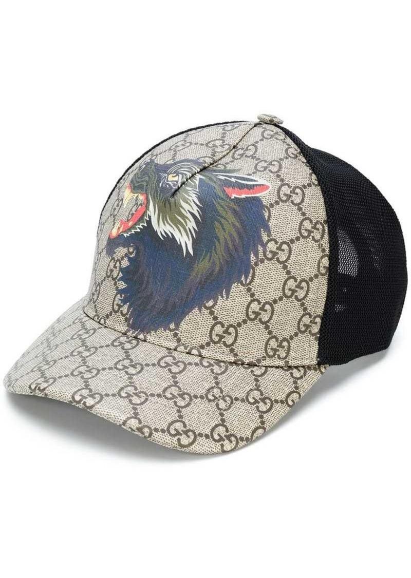 8acc09dc9bce7 Gucci GG Supreme wolf baseball hat