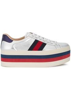 Gucci GG vintage web platform sneakers