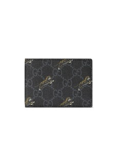 Gucci GG wallet with tiger print