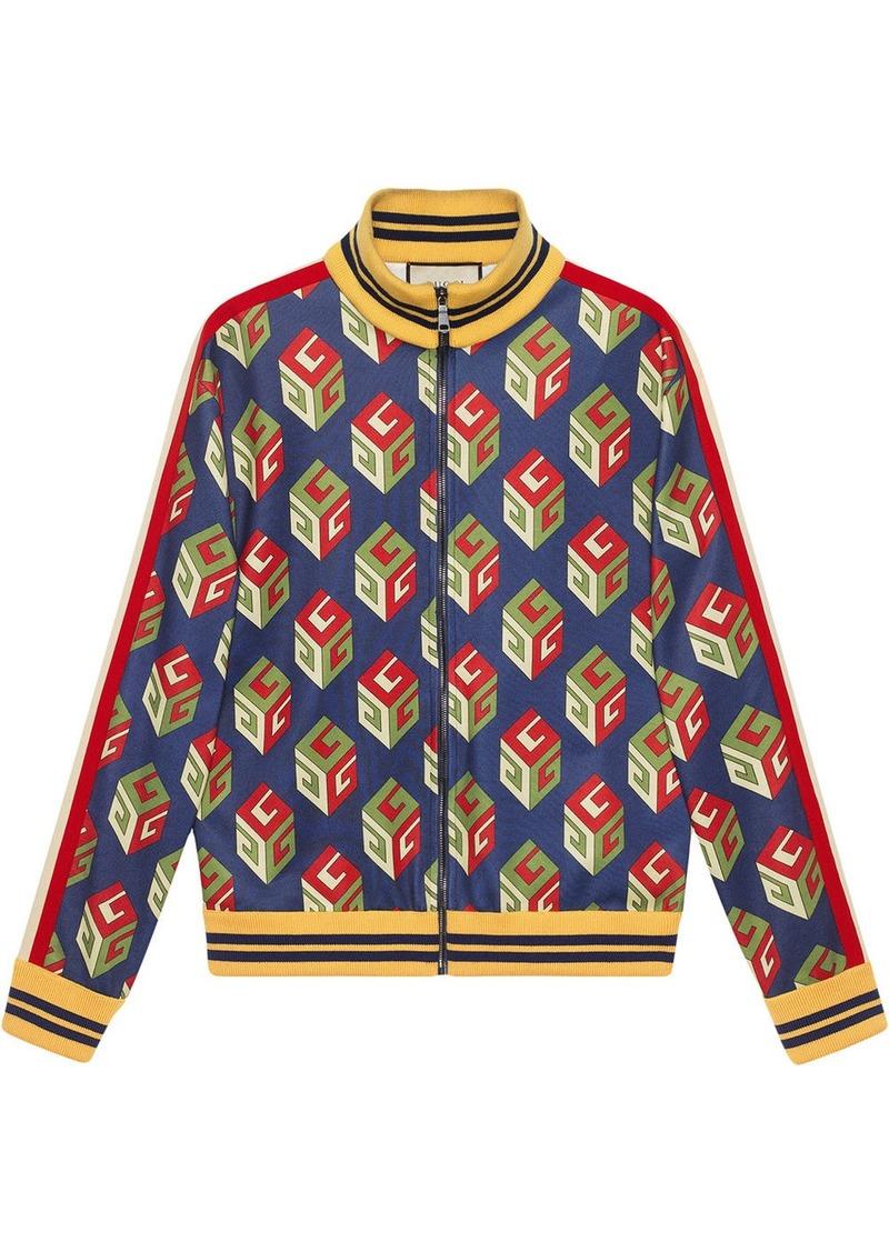 Gucci GG Wallpaper technical jersey jacket