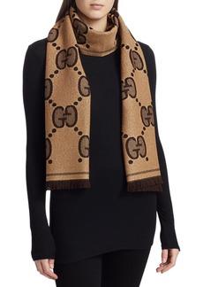 Gucci GG Wool Jacquard Scarf