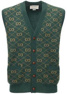 Gucci Gg Wool Jacquard Sweater Vest