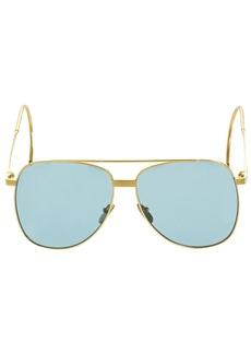 Gucci Gg0953s Pilot Metal Sunglasses
