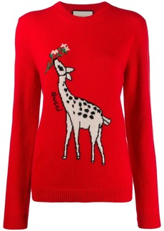 Gucci giraffe intarsia sweater