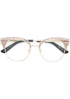 Gucci glitter round frame glasses