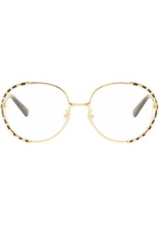 Gucci Gold & Black Oversized Vintage Glasses