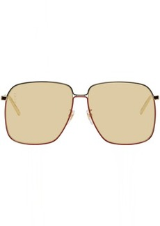 Gucci Gold & Yellow Square Sunglasses