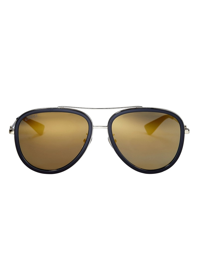 46676250f56 Gucci Gold Lens Aviator Sunglasses