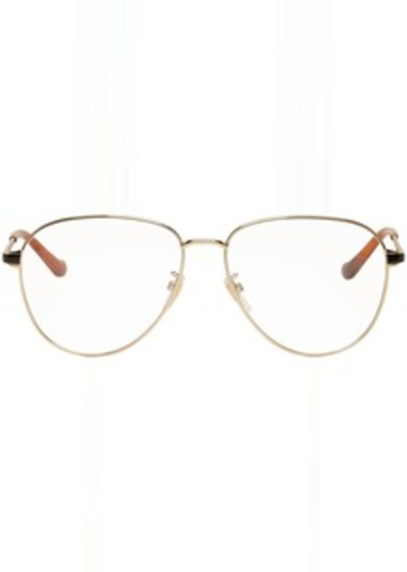 Gucci Gold Metal Pilot Glasses
