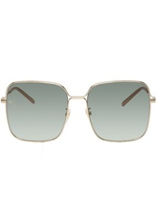Gucci Gold Oversized Square Sunglasses