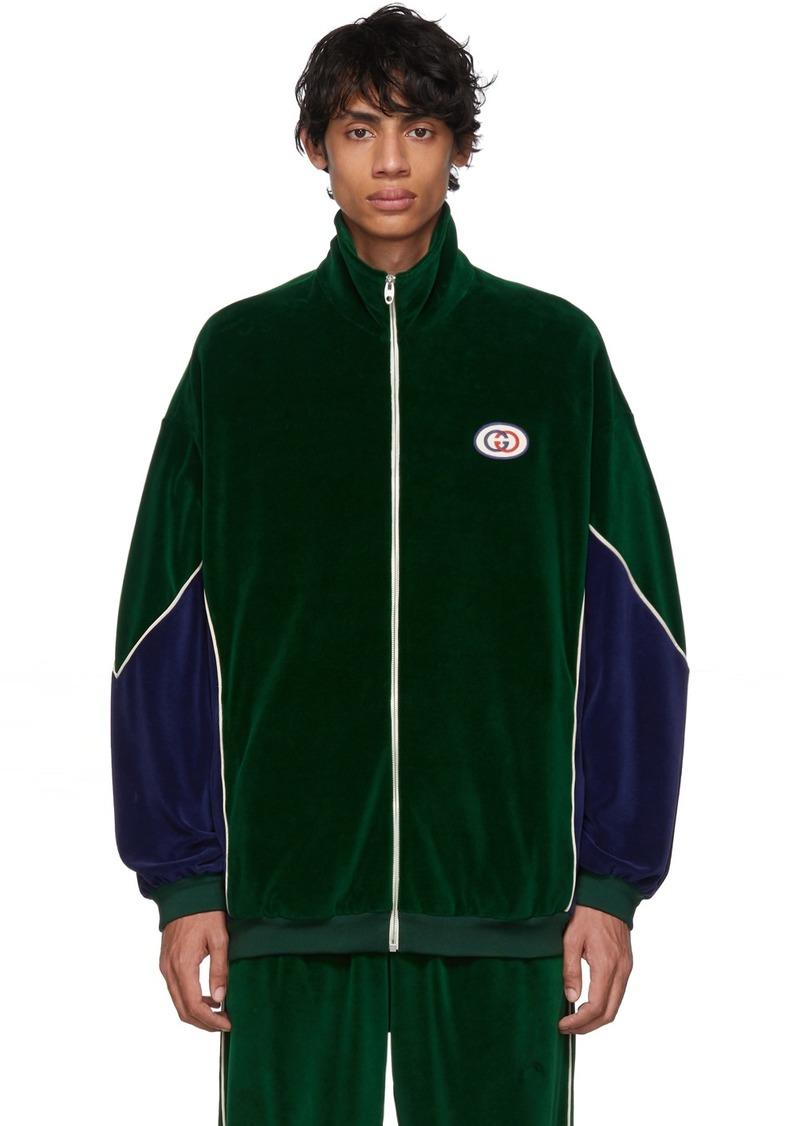 Gucci Green & Blue Velvet Jacket