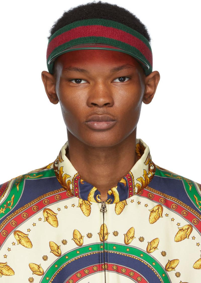Gucci Green & Red Vinyl Visor