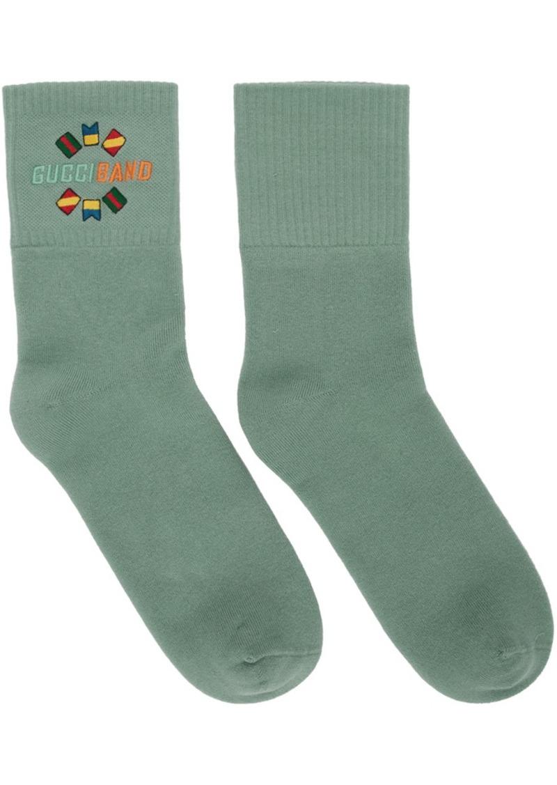 Gucci Green 'Band' Socks