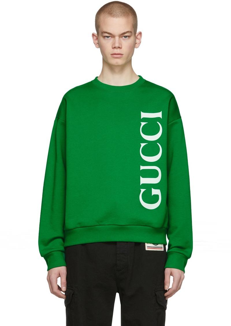 Gucci Green Logo Sweatshirt