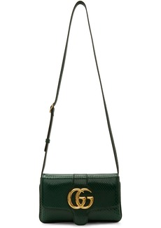 Gucci Green Small Croc Arli Bag