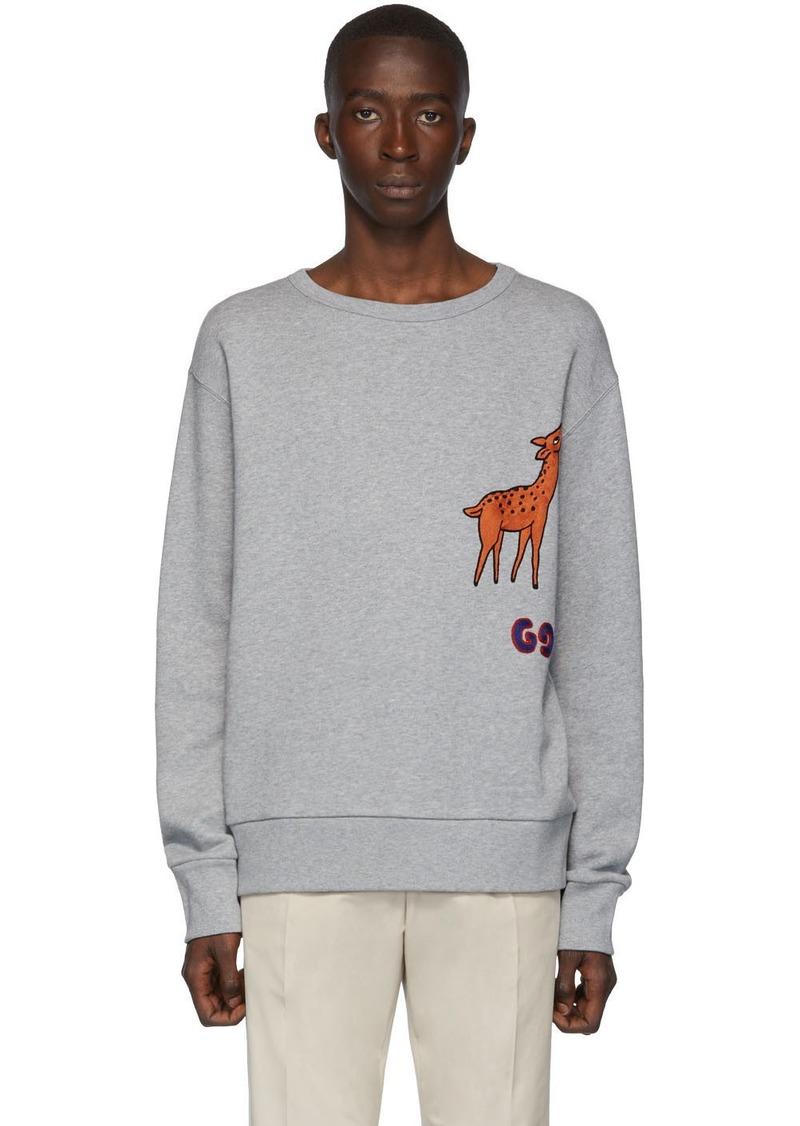 Gucci Grey GG Deer Sweatshirt