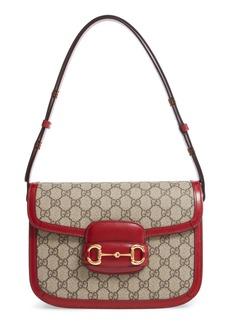 Gucci 1955 Horsebit GG Supreme Canvas Shoulder Bag