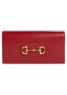 Gucci 1955 Horsebit Leather Wallet on a Chain