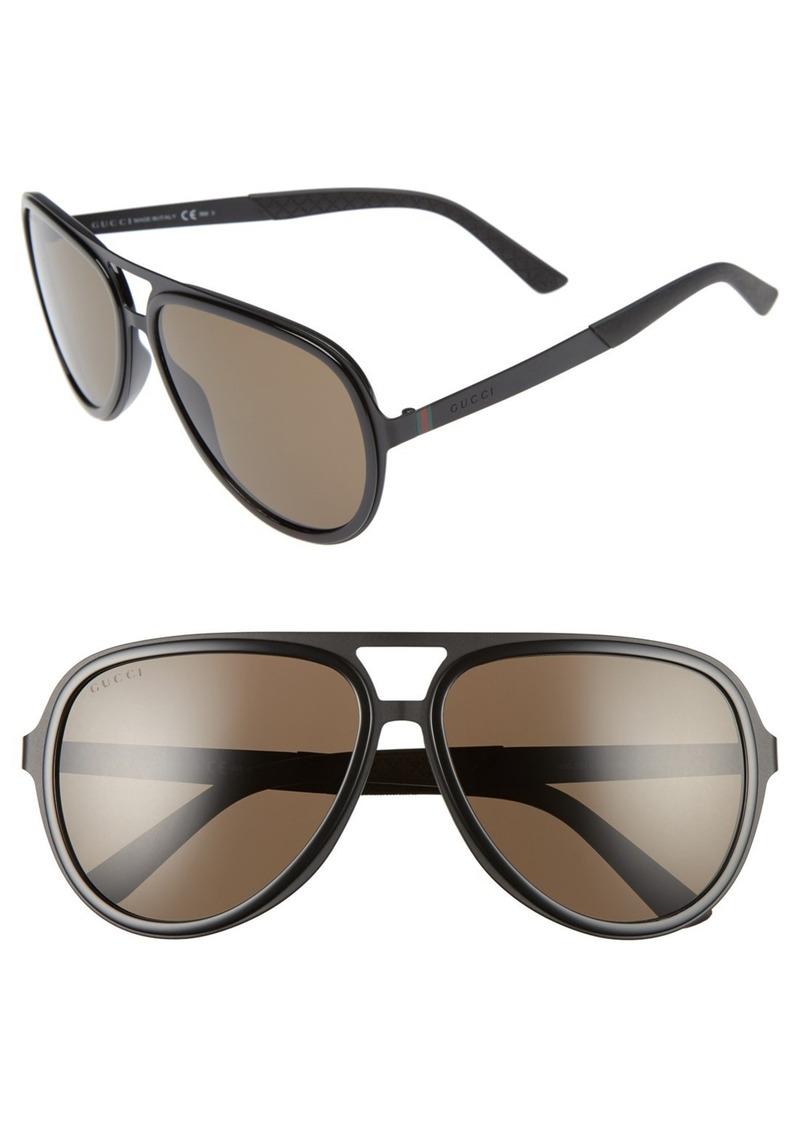Gucci '2274S' 59mm Aviator Sunglasses