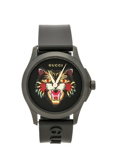 Gucci 38MM G-Timeless Feline Head Motif Watch