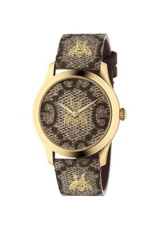 Gucci 38MM G-Timeless Bee Print Watch