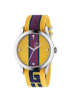 Gucci 38MM G-Timeless Logo Strap Watch