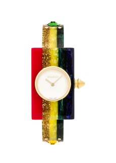 Gucci 24 x 40MM Plexiglas Bangle Watch