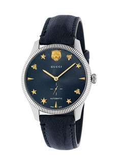 Gucci 40mm G-Timeless Watch w/ Transparent Back  Navy