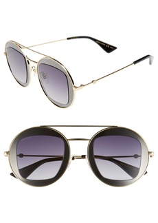 Gucci 47mm Round Sunglasses