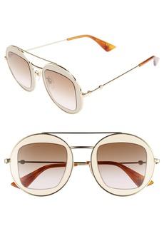 Gucci 47mm Round Sunglasses