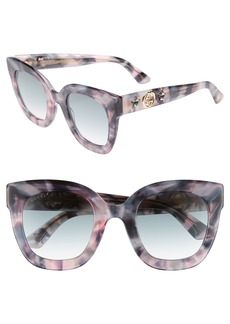 Gucci 49mm Cat Eye Sunglasses