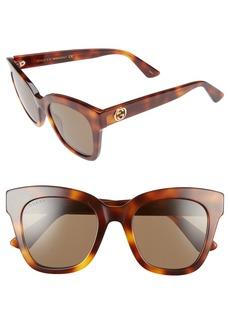 Gucci 50mm Cat Eye Sunglasses