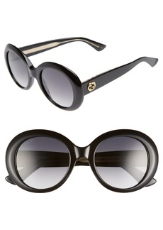 Gucci 51mm Gradient Lens Round Sunglasses
