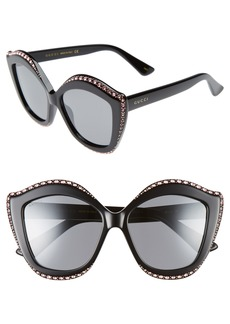 Gucci 52mm Cat Eye Sunglasses