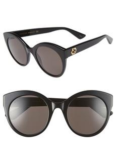 Gucci 52mm Cat Eye Sunglasses