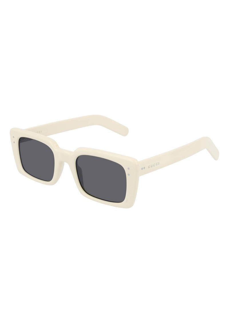 Gucci 52mm Rectangle Sunglasses