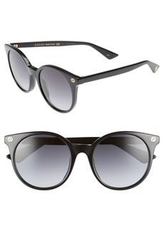 Gucci 52mm Round Sunglasses