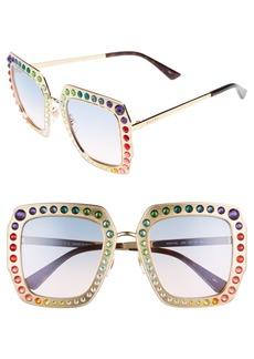 Gucci 52mm Square Sunglasses