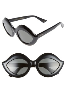 Gucci 53mm Cat Eye Sunglasses