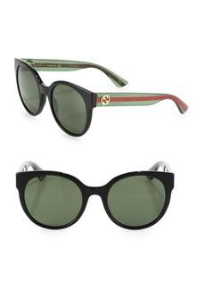 Gucci 54MM Glitter Round Sunglasses