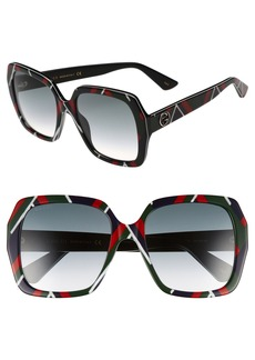 Gucci 54mm Gradient Square Sunglasses
