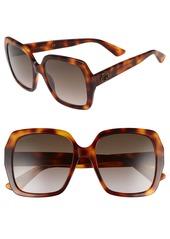 Gucci 54mm Gradient Square Sunglasses
