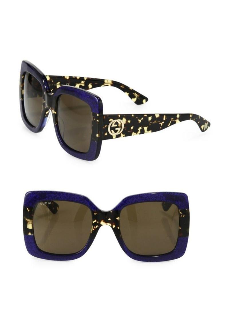 c0e2cac4 54MM Oversized Square Colorblock Sunglasses