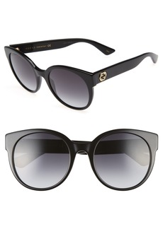 Gucci 54mm Cat Eye Sunglasses