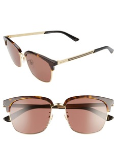 Gucci 55mm Brow Bar Sunglasses