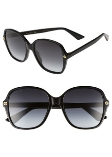 Gucci 55mm Gradient Sunglasses
